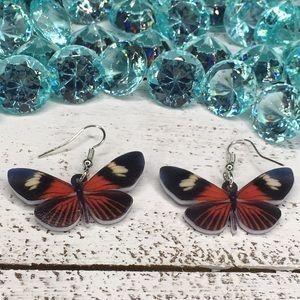 Jewelry - Heliconius Acrylic Butterfly Earrings